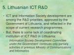 5 lithuanian ict r d