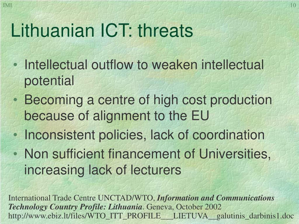 Lithuanian ICT: threa