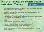 national innovation system swot overview threa t s
