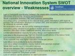 national innovation system swot overview weaknesses