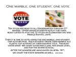 one marble one student one vote