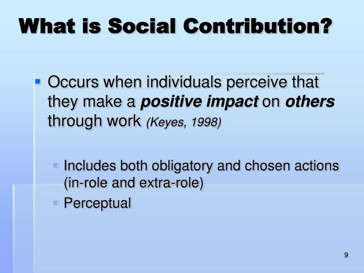What is Social Contribution?