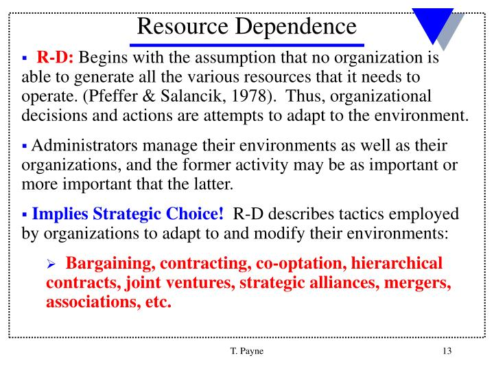 Resource Dependence