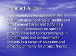 safeguard policies