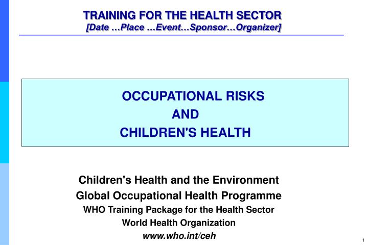 training for the health sector date place event sponsor organizer n.