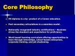 core philosophy