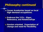 philosophy continued