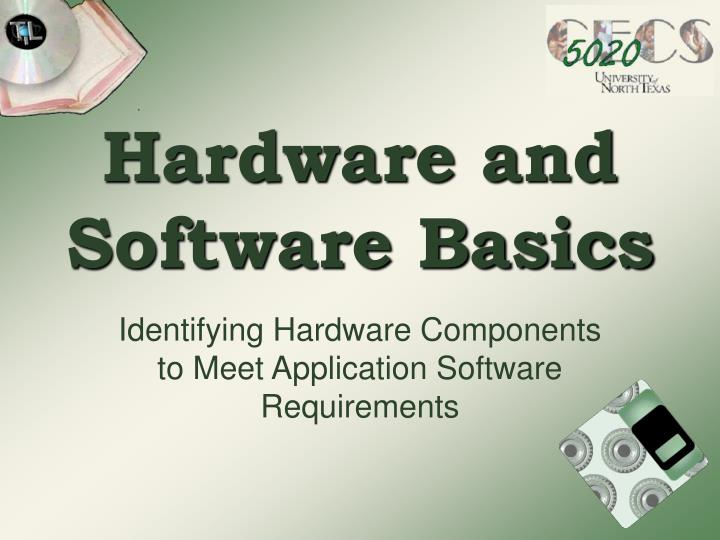hardware and software basics n.