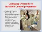 changing demands on infection control programme