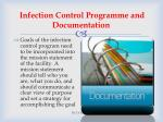 infection control programme and documentation