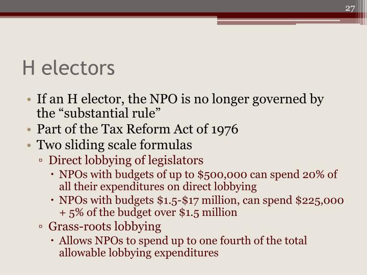H electors