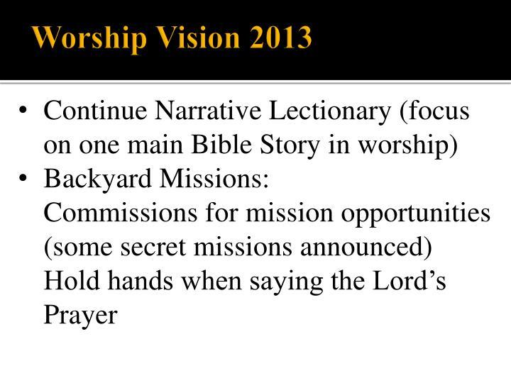 Worship Vision 2013