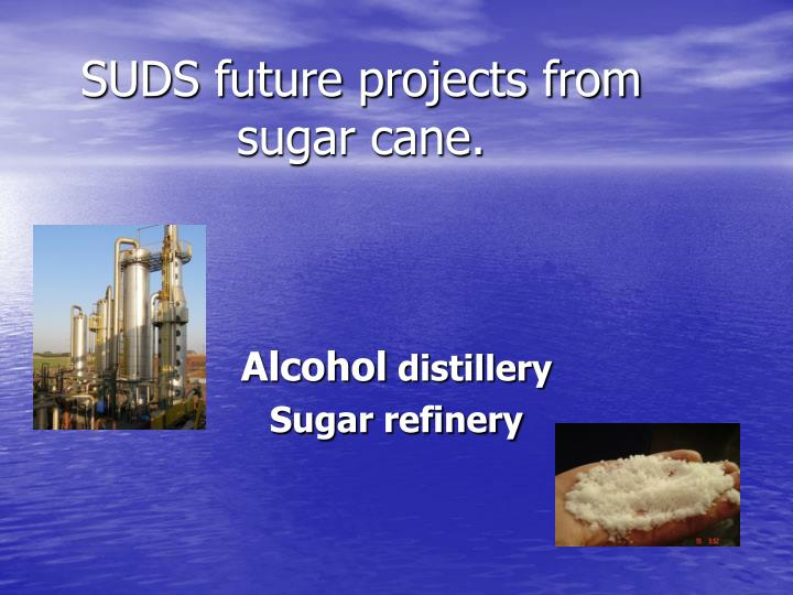 suds future projects from sugar cane n.