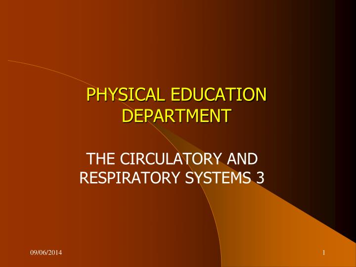 physical education department n.