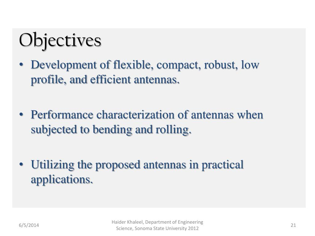 PPT - Novel Antennas for flexible and Wearable Wireless Systems