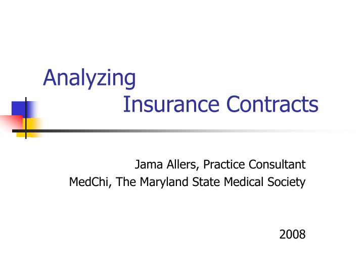 analyzing insurance contracts n.