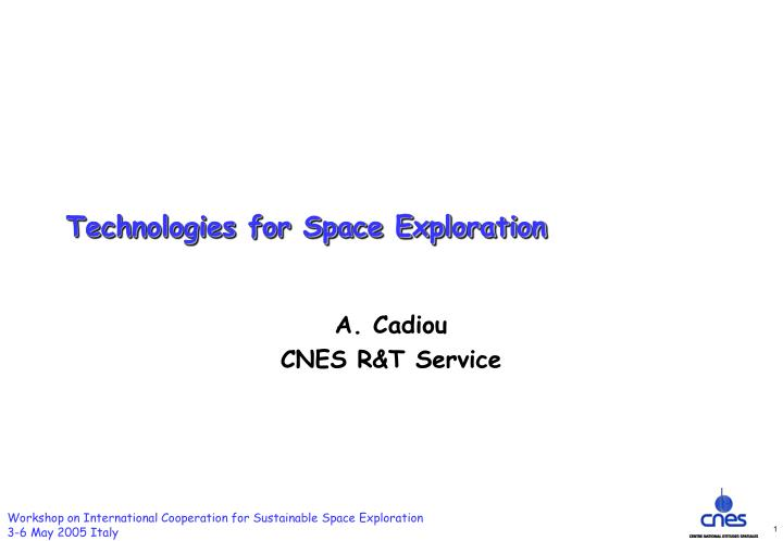 technologies for space exploration n.
