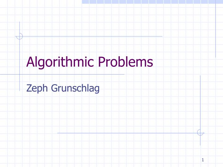 algorithmic problems n.