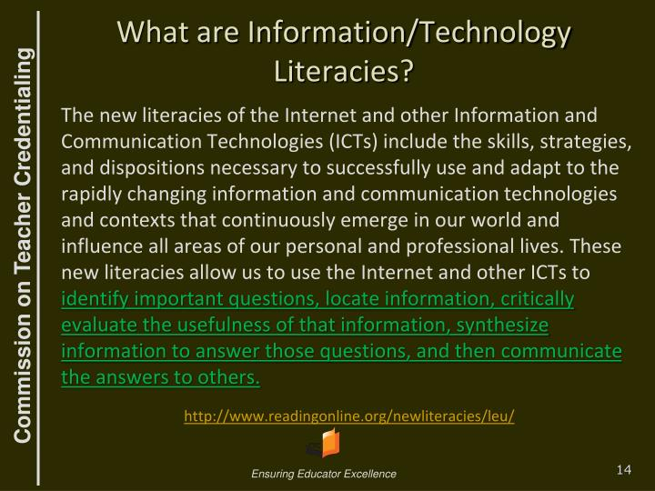 What are Information/Technology