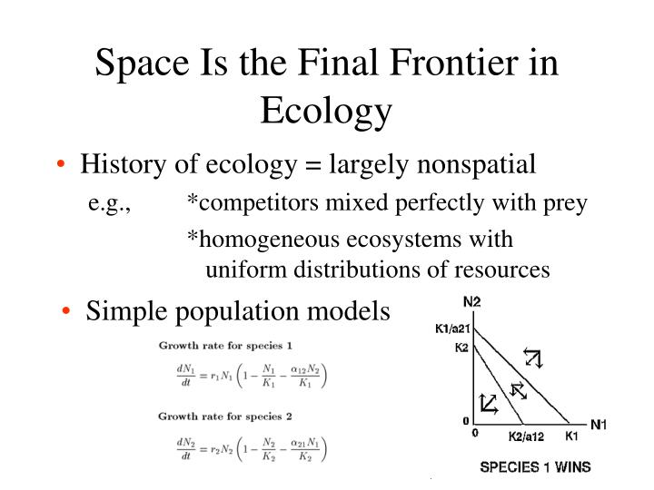space is the final frontier in ecology n.