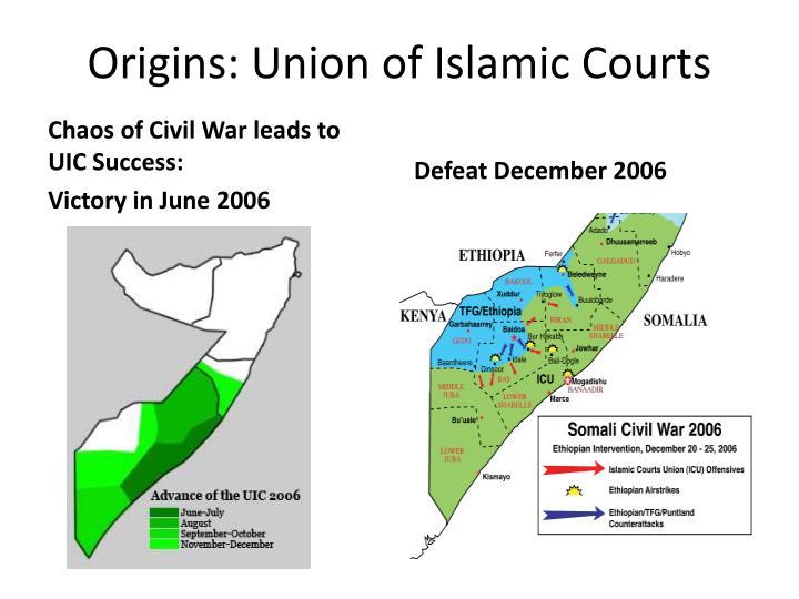 Origins: Union of Islamic Courts