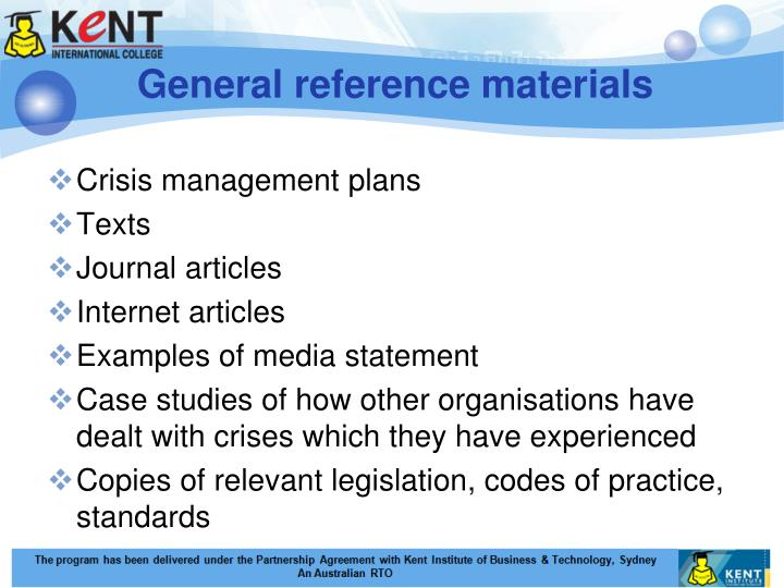 General reference materials