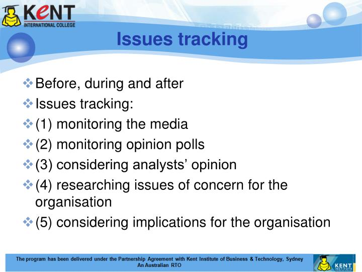 Issues tracking