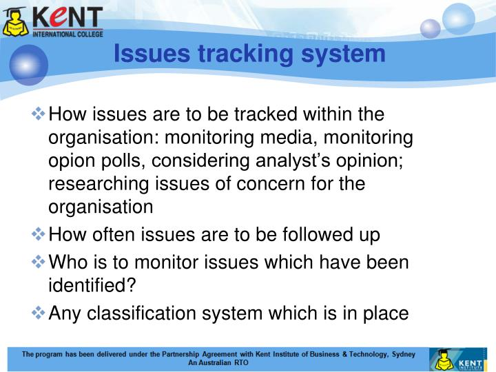 Issues tracking system