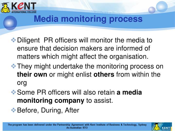 Media monitoring process