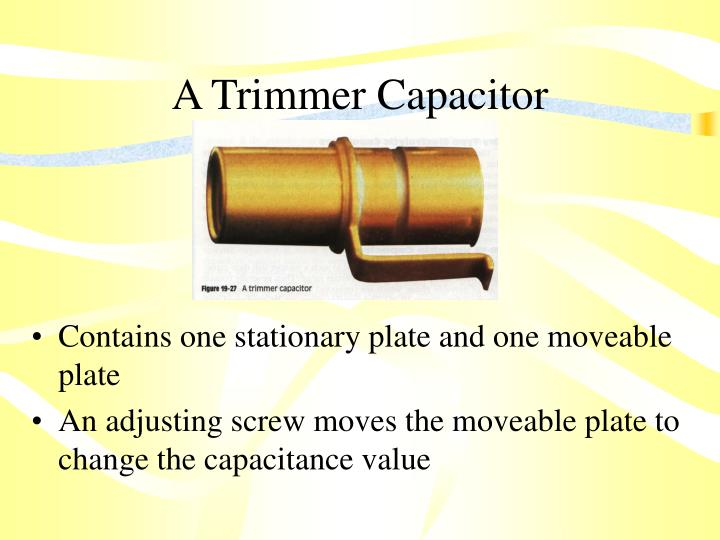 A Trimmer Capacitor