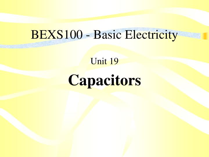 bexs100 basic electricity n.