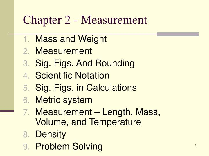chapter 2 measurement n.