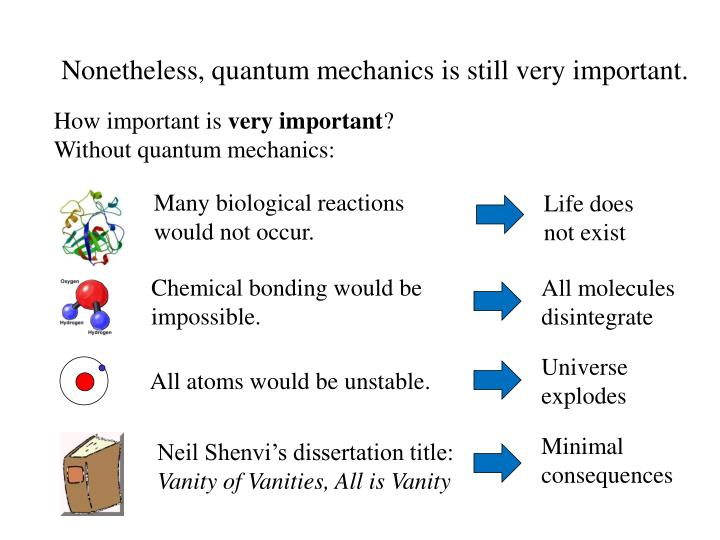 Nonetheless, quantum mechanics is still very important.