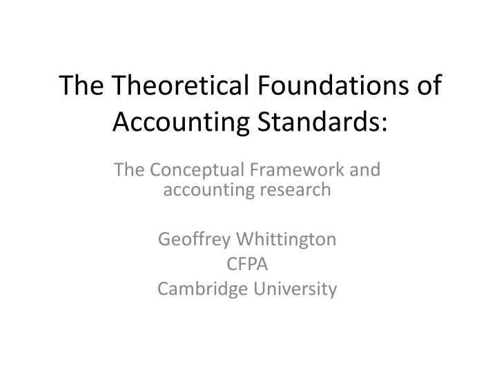the theoretical foundations of accounting standards n.