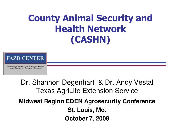 county animal security and health network cashn n.