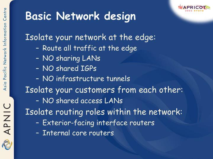 Basic Network design
