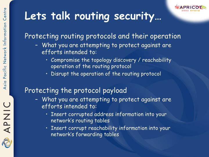 Lets talk routing security…