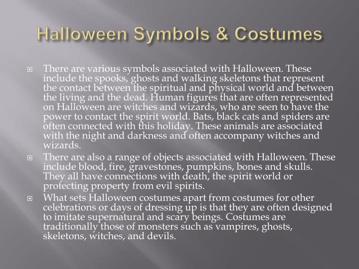 Halloween Symbols & Costumes