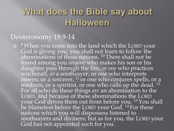 What does the Bible say about Halloween