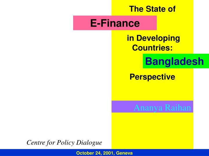 the state of in developing countries perspective n.