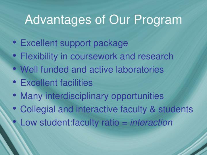 Advantages of Our Program