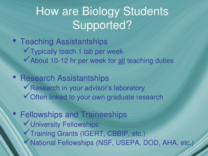 How are Biology Students Supported?
