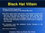 black hat villain