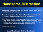 handsome distraction