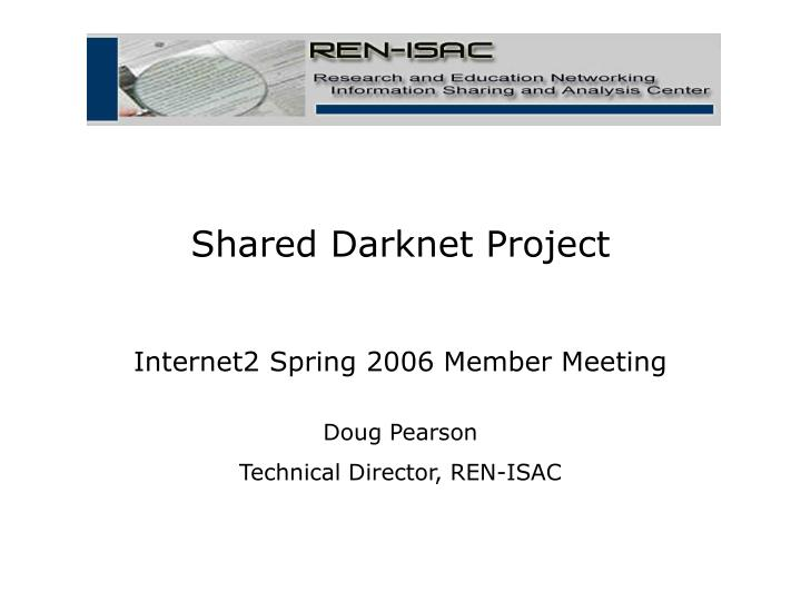 shared darknet project n.