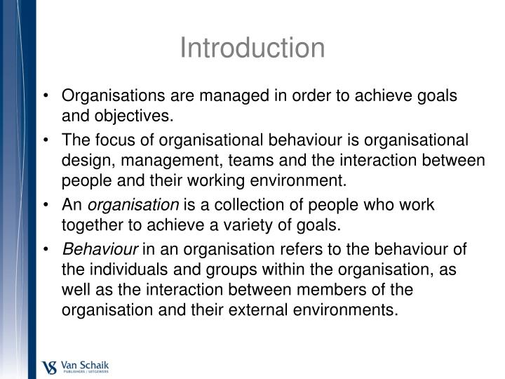 an introduction to the knowledge about organisational behaviour An introduction to organizational behavior essays: over 180,000 an introduction to organizational behavior essays, an introduction to organizational behavior term papers, an introduction to organizational behavior research paper, book reports 184 990 essays, term and research papers available for unlimited access.