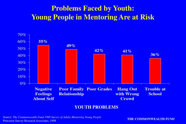 problems faced by youth young people in mentoring are at risk n.
