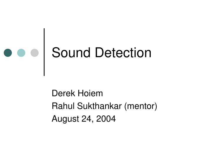 sound detection n.