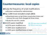 countermeasures local copies