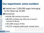 our experiment some numbers